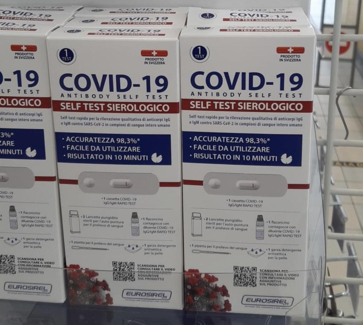 Covid: all'Eurospin arriva il test sierologico fai da te a 9.90. Ed è subito caccia