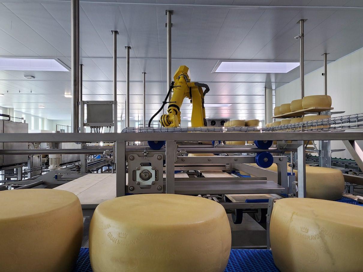 Che suono ha la stagionatura robotizzata di un formaggio grana?
