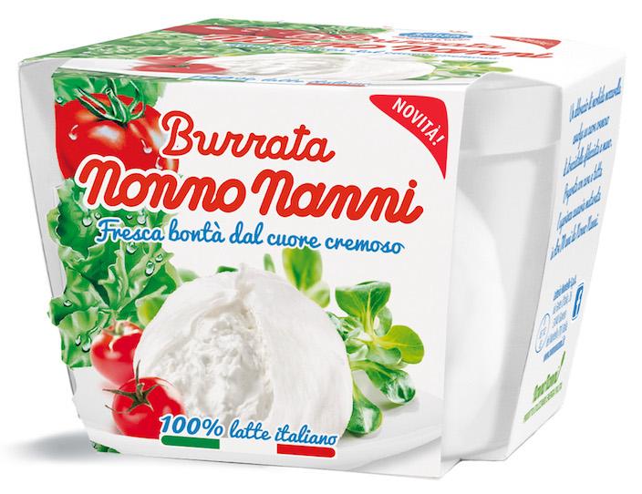 Burrata e Mozzarella, i due nuovi freschi della famiglia Nonno Nanni