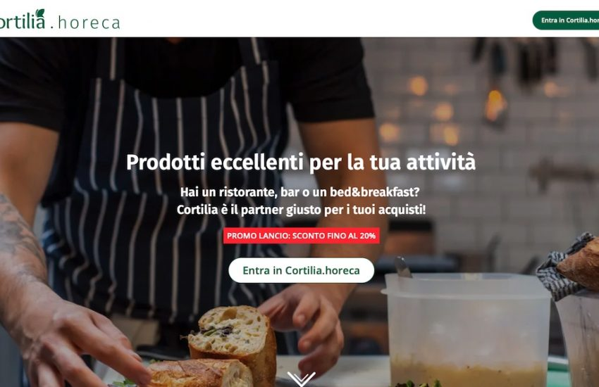 Cortilia.horeca home page